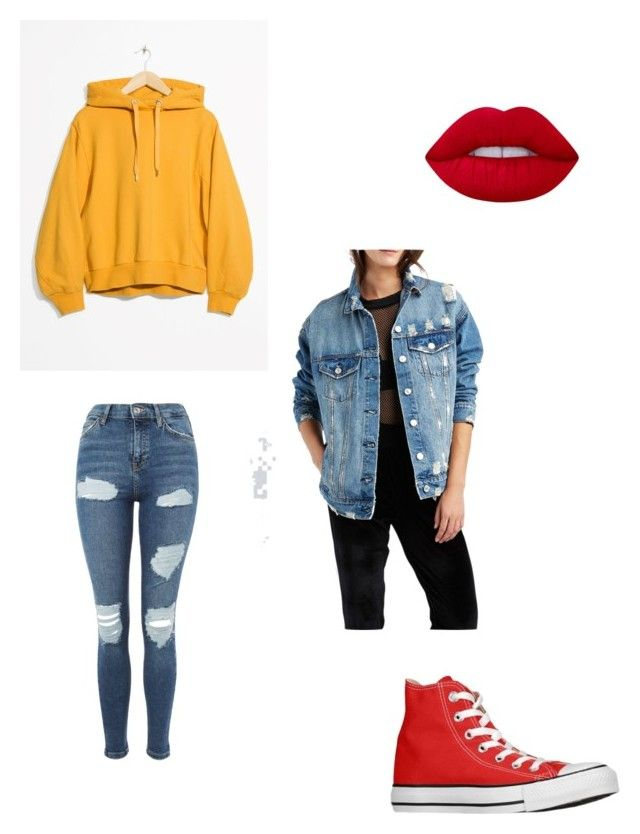 Hipster fall outfit by kyrarosie on Polyvore featuring polyvore, fashion, style, Charlotte Russe, Topshop, Lime Crime, Converse and clothing