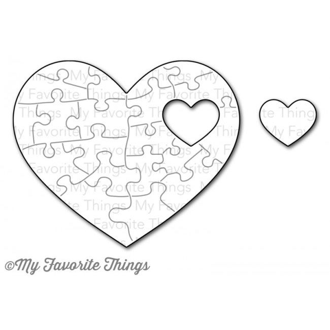 Put the pieces of your heart together with the beautiful Heart Puzzle Die-namics Individual puzzle pieces are embossed into the heart The interior