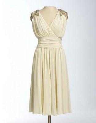 1940's-style vintage wedding dress