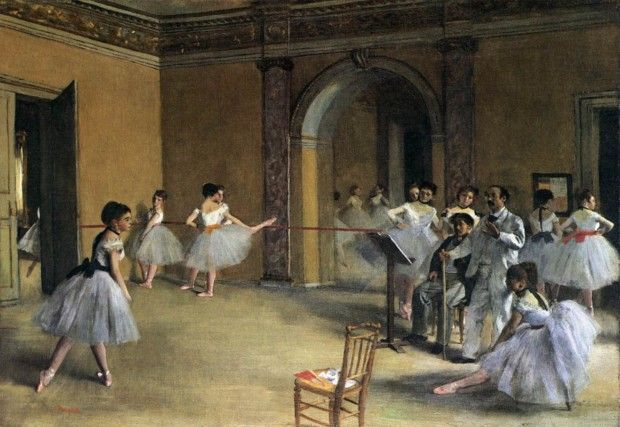 Edgar Degas, The Foyer of the Opera at Rue Le Peletier, 1872, Musée d'Orsay, Paris