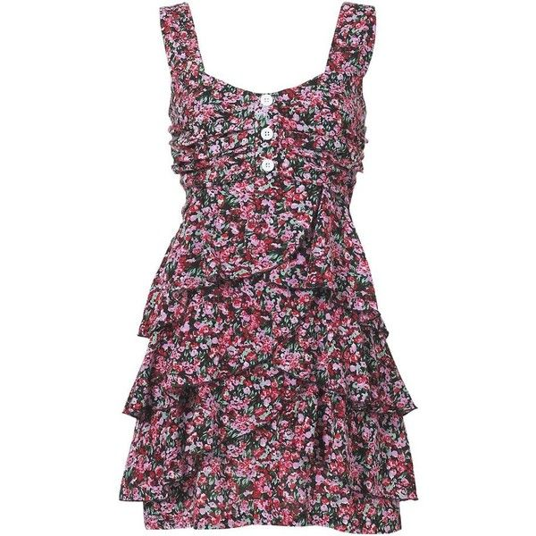 Multi coloured floral festival dress found on Polyvore <3