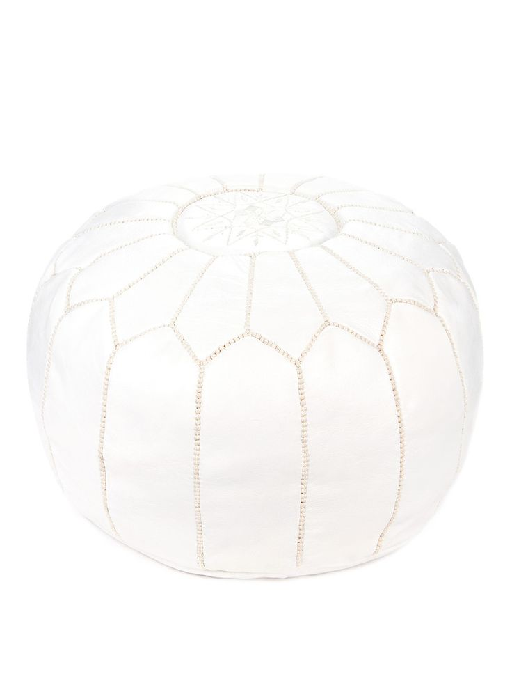 Poufs also known as ottomans, make a fabulous home accessory and give energy and character to any room in your house. They can also be used as footstools or side tables. - 100% Goat Leather - Size: 19