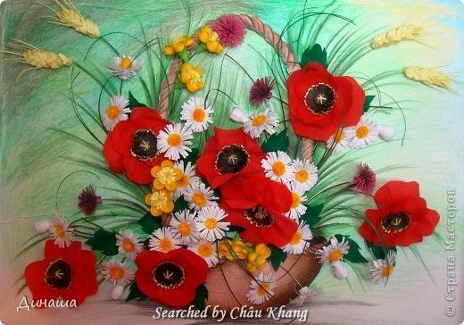stranamasterov.ru/ - Quilled poppies pictures (Searched by Châu Khang)