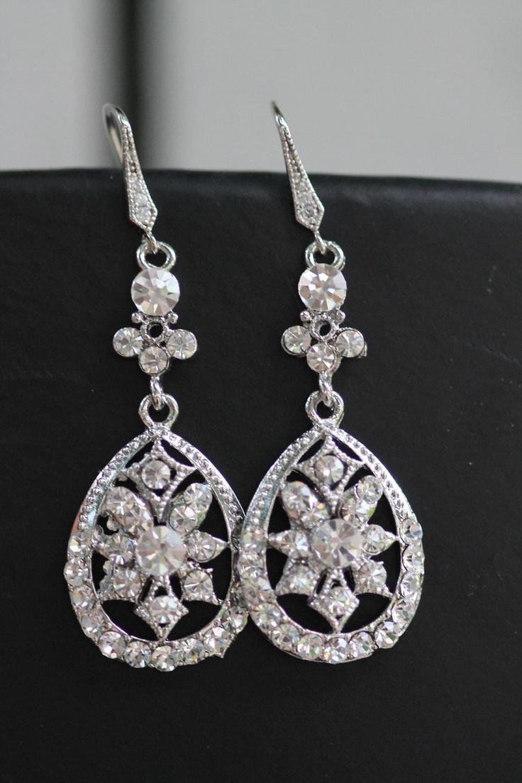 Alis Wedding Chandelier Bridal Earrings