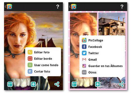 Pic Collage, aplicación Android para crear collages de fotos
