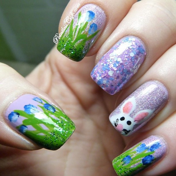 Easter Bunny Nail Art: 17 Best Images About Nail Art- Easter On Pinterest