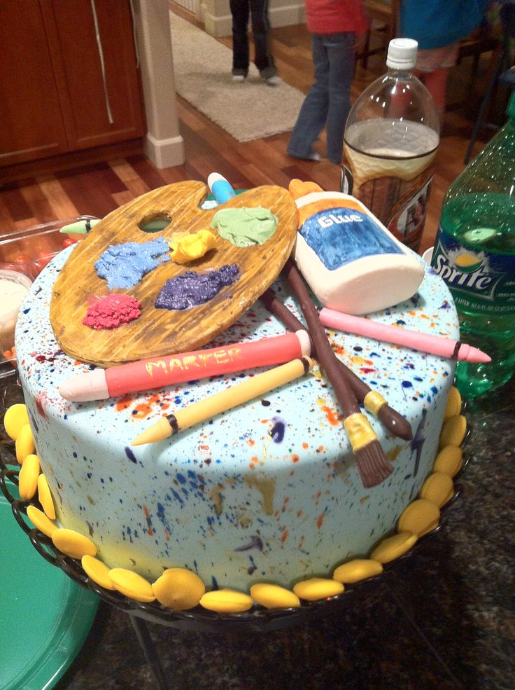 Birthday Cake For An Art Themed Party Could Do This On A