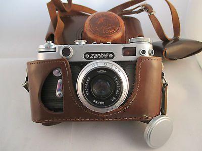 Vintage Zorki 6 Soviet 35mm SLR Camera c1962. & Sangomo Invercone