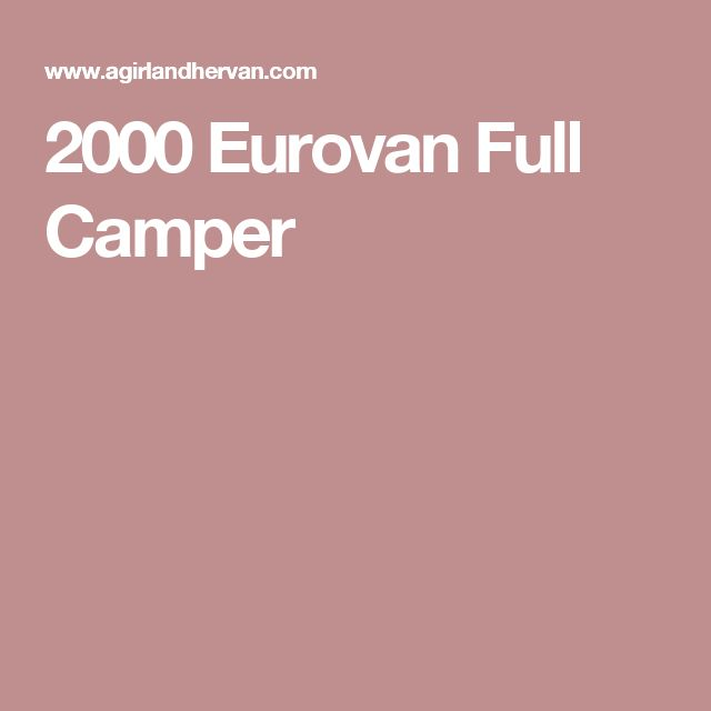 2000 Volkswagen Eurovan: Get 20+ Eurovan Camper Ideas On Pinterest Without Signing