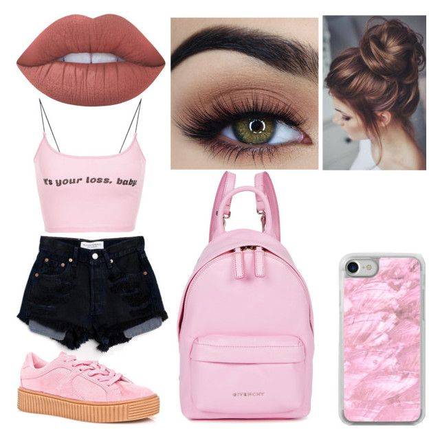 """Bubblegum Bitxh #6"" by raineingboties on Polyvore featuring Cape Robbin, Levi's, Lime Crime, Recover and Givenchy"