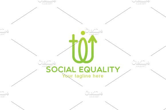 Social Equality-Male Female Logo by VecRas on @creativemarket