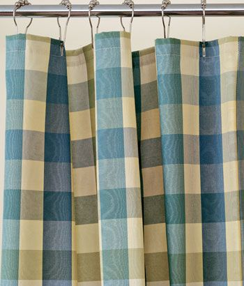 A Plaid Shower Curtain. Country ...