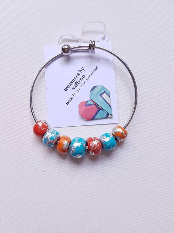 Check out this item in my Etsy shop https://www.etsy.com/au/listing/586523465/bracelet-handmade-polymer-beads-in