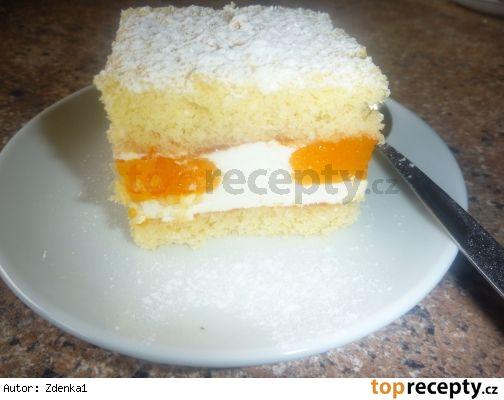 Jogurtový řez s mandarinkami