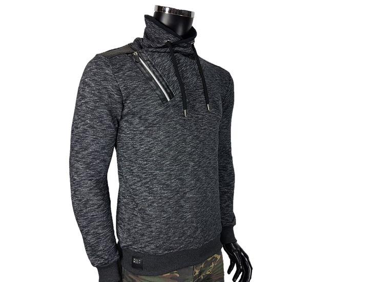 Bluza męska z ekoskóry - - Bluzy męskie - Awii, Odzież męska, Ubrania męskie, Dla mężczyzn, Sklep internetowy