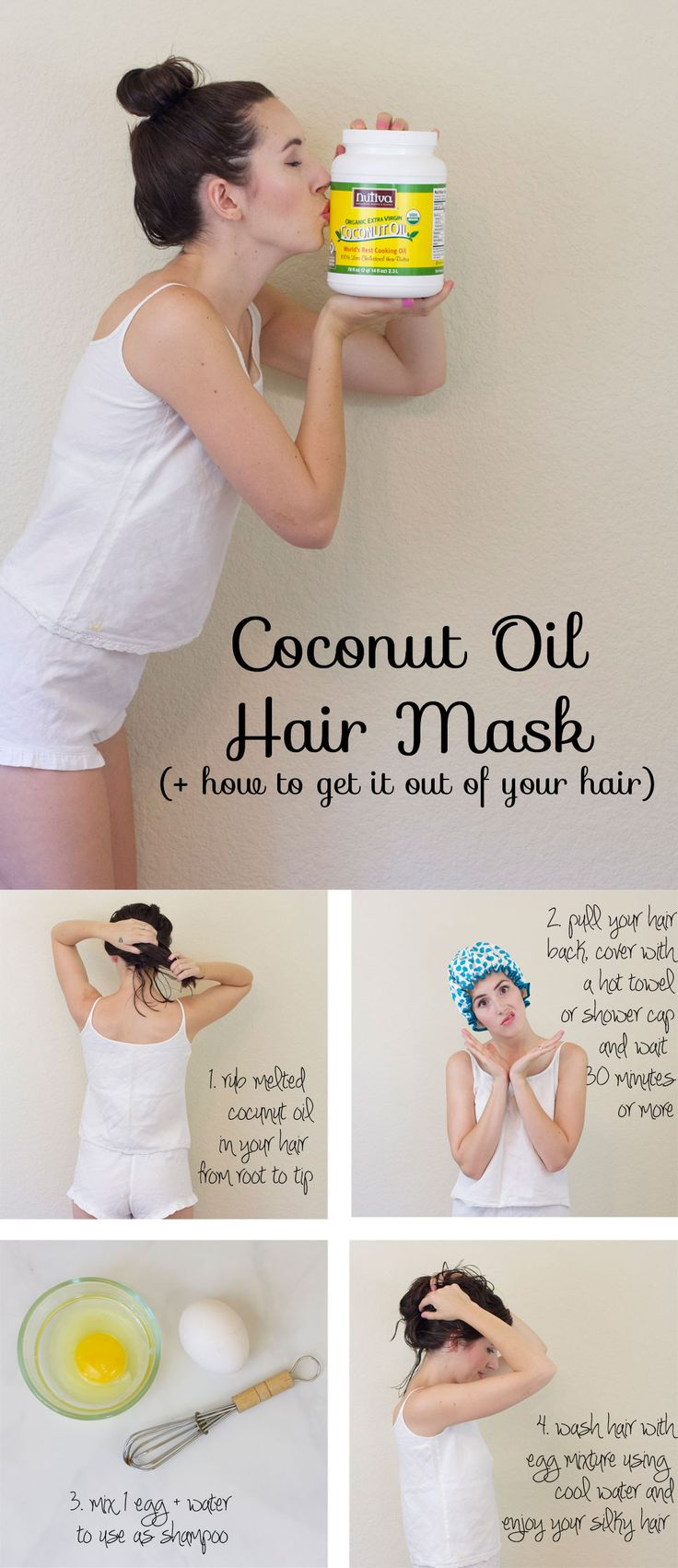 coconut-oil-hair-mask // how to get shiny hair