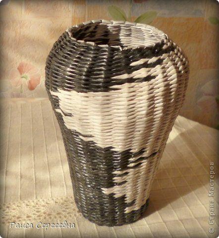 Поделка изделие Плетение Контрасты Трубочки бумажные фото 2
