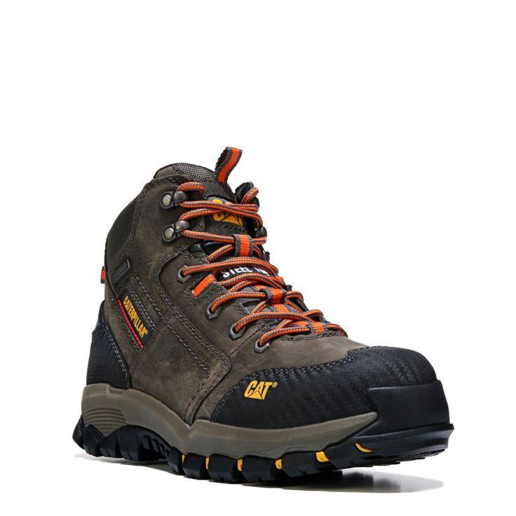 Caterpillar Men's Navigator Mid Medium/Wide Waterproof Steel Toe Boots (Dark Gull Grey) - 11.0 M