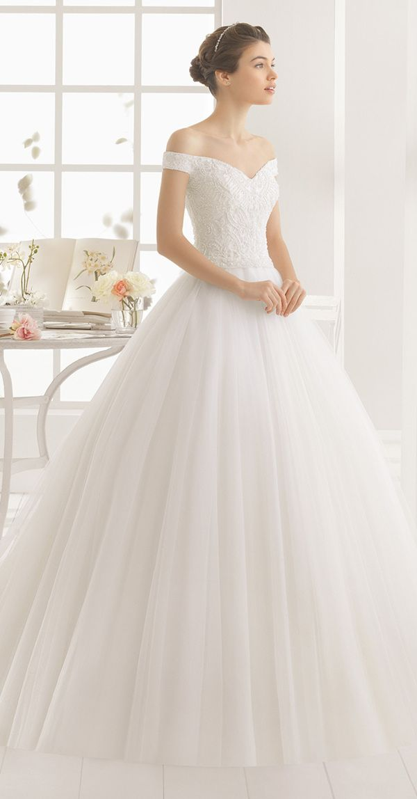 Aire Barcelona Wedding Dresses 2016 Collection Gown Off Shoulderoff