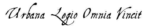 """Tatuagem """"Urbana Legio Omnia Vincit"""". Fonte: aquilinetwo"""