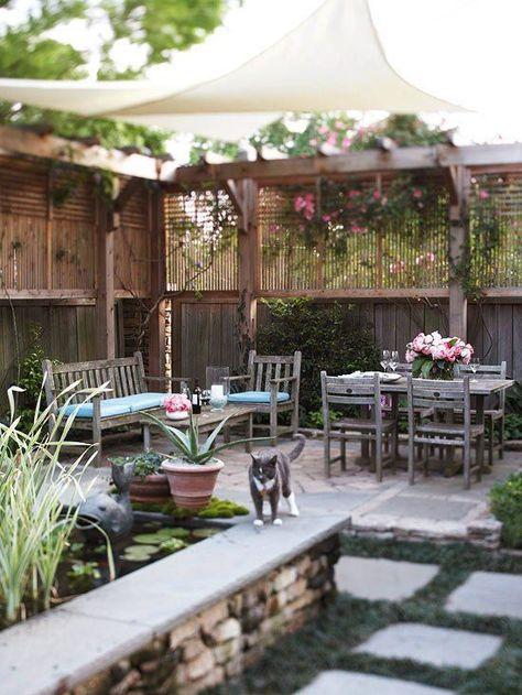 Garten abschirmen Sichtschutz-hoher Zaun