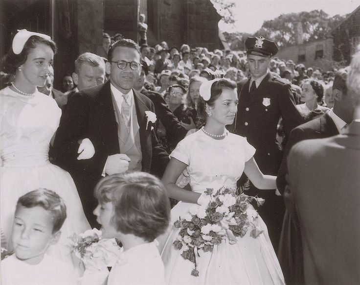 Never-before-seen wedding photos of JFK and Jackie Kennedy - Slideshows and Picture Stories - TODAY.com. BRIDE'S ATTENDANTS (#2): honor; and 10 bridesmaids, among them the groom's sister, Jean, and sister-in-law, Ethel, as well as the bride's former boarding school roommate, Nancy Tuckerman.