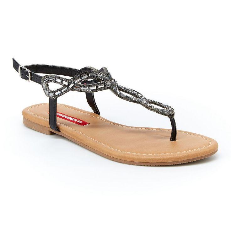 Unionbay Swirl Women's Slingback Sandals, Girl's, Size: 8.5, Black