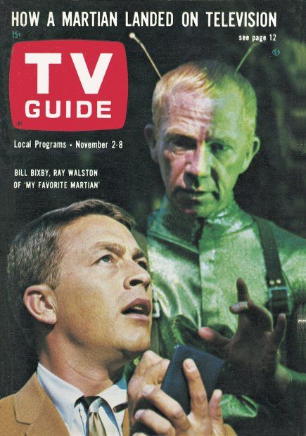 "TV Guide, November 2, 1963 - Bill Bixby and Ray Walston of ""My Favorite Martian"""