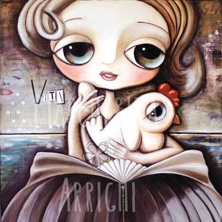 La bambina Marylin Monroe con La gallina bianca