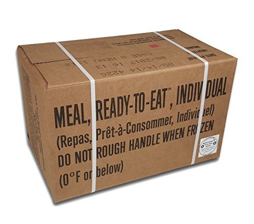 ULTIMATE MRE, July 2017 and up Inspection Date Meals Ready-to-Eat, Case of 12 Genuine US Military Surplus