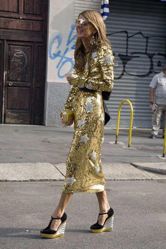 Anna Dello Russo in Dolce & Gabbana | Street Fashion | Street Peeper | Global Street Fashion and Street Style