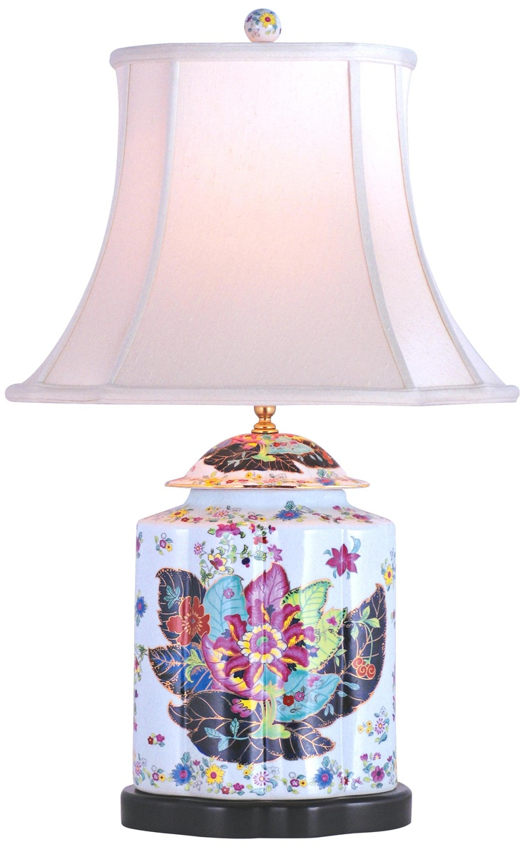 448 best lighting table lamps images on pinterest blue and porcelain scallops tobacco tea jar table lamp geotapseo Image collections