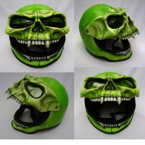 Skeleton Skull Fullface 3D Airbrush Motorcycle Helmet NEW M L XL   eBay