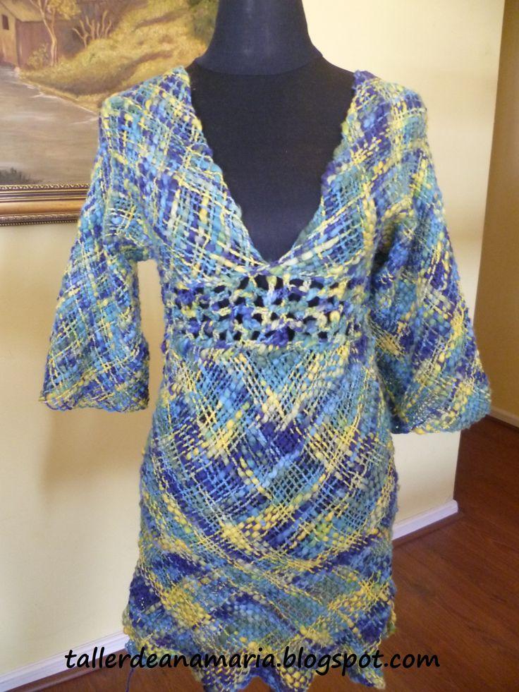 Vestido de algodón, confeccionado por una alumna del taller.