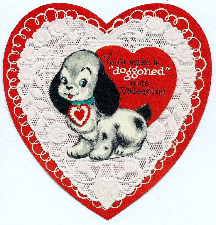 1478 best VALENTINES DOG VINTAGE images – Nice Valentines Cards