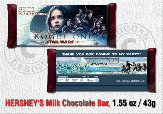 INSTANT DOWNLOAD Rogue One candy wrapper Star Wars by BogdanDesign