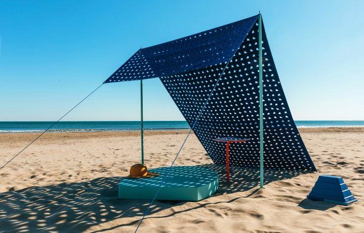 Parasol Pyramides de plage.