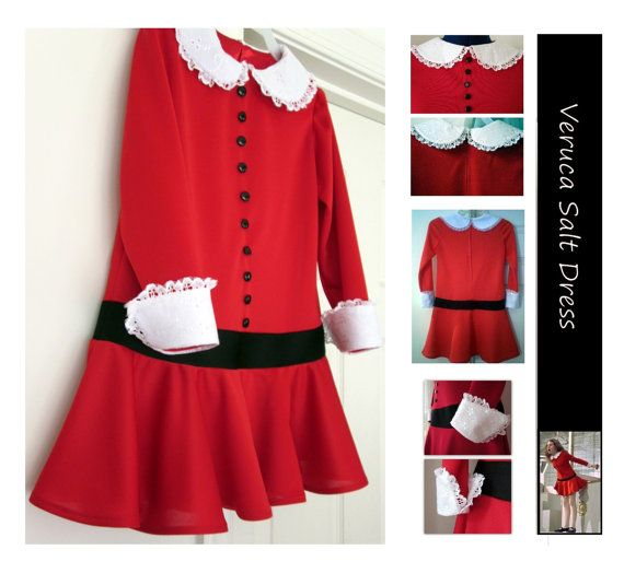 Veruca Salt Dress  Custom Made for Any Age by srdodd on Etsy, $225.00