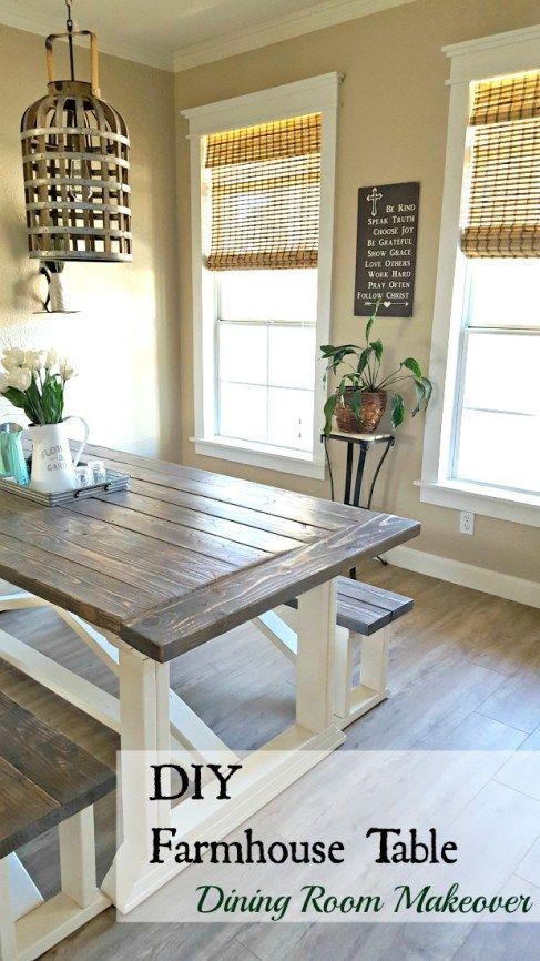 DIY farmhouse table tutorial