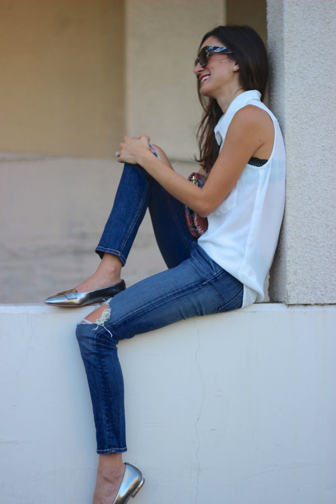 Frankie Hearts Fashion in Rag & Bone Ripped Skinny Jeans SIMILAR STYLES...