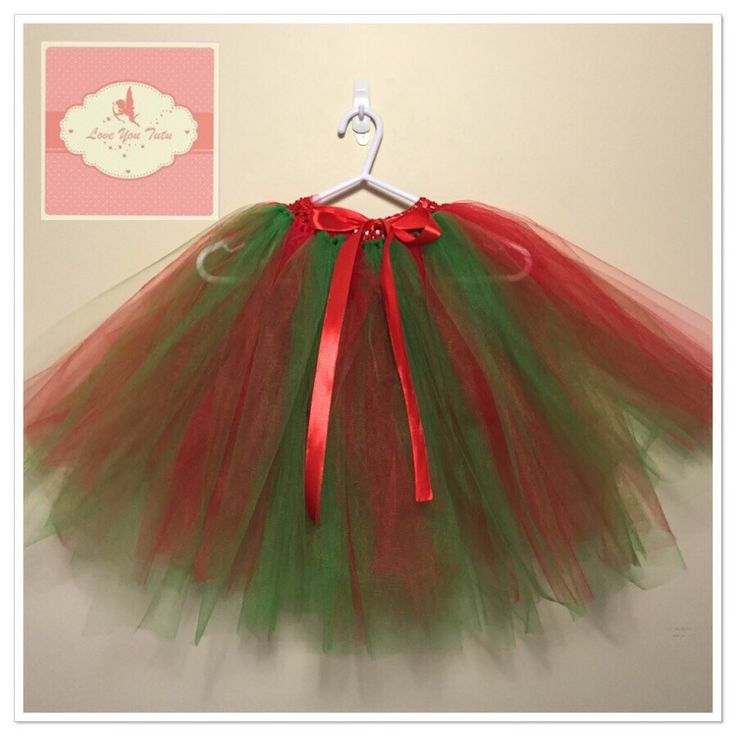 Christmas 3/4 length Tutu skirt