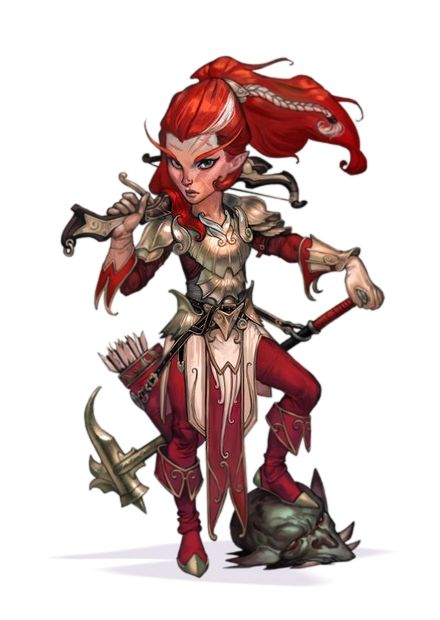 Female Gnome: Pathfinder PFRPG DND D&D 3