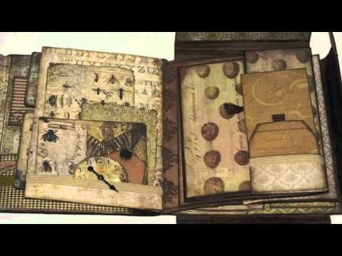 Tim Holtz Folio: Wallflower Mini Album - YouTube