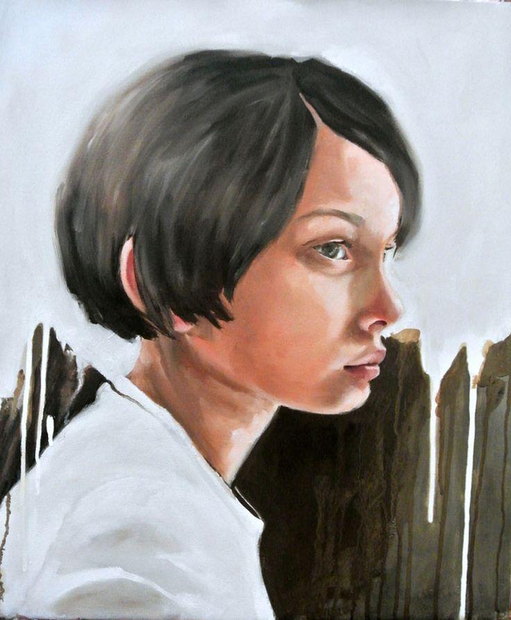 'Girl' - oil painting #art by Mila Posthumus. Buy online from StateoftheART http://bit.ly/1xoU9rg