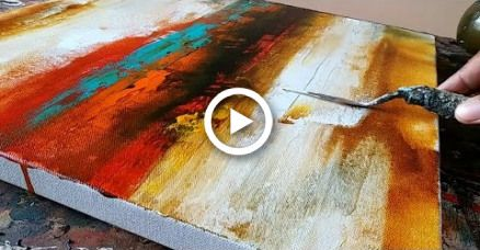 Abstract painting / simple / how to paint abstract acrylic painting / just using palette