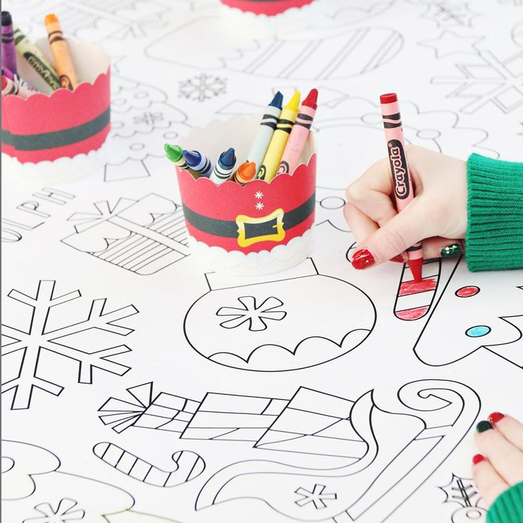 Download Christmas Coloring Tablecloth   Christmas colors, Christmas coloring pages, Christmas table cloth