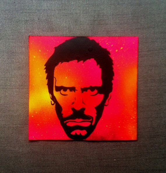 Dr. House: You Lied  Original Handmade Stencil by DrStencil