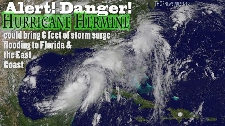Danger!! Hurricane Hermine 6 feet of flooding possible in Florida & alon...