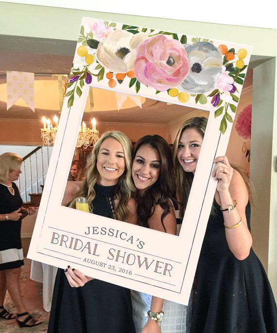 bridal shower photo prop wedding photo prop sweet blooms digital file baby shower photo prop frame printed option available in 2018 ideas