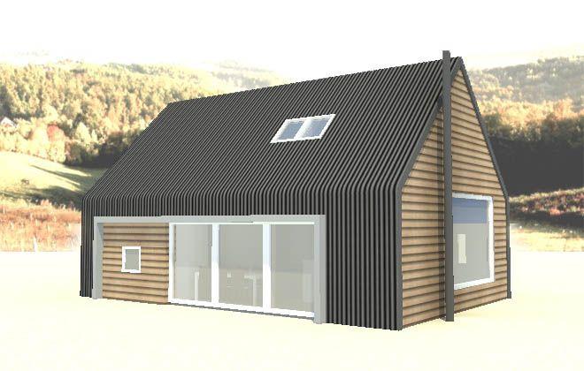Eternit (concrete corrugated sheeting) as cladding